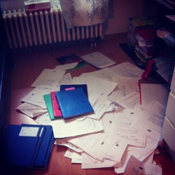 Just piles of past papers and books for IB revision #ib #revision
