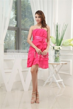 Watermelon Strapless A-Line Chiffon Bridesmaid Dress 2013Wholesale Price: US$104.99