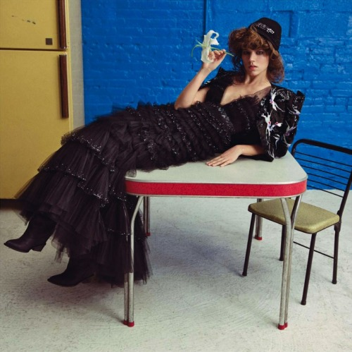 Freja Beha Erichsen in Chanel Haute Couture, Spring 2013 photographed by Inez van Lamsweerde and Vinoodh Matadin for Vogue Paris, May 2013
