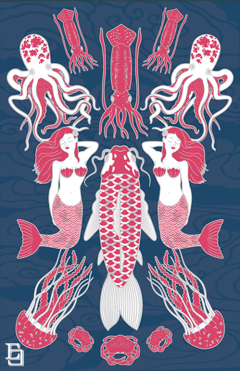 scientificillustration:  elevatocontrasto:  Sea Life (Vida Marina)  Thanks for the submission elevatocontrasto!