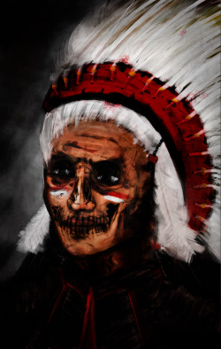 Digital painting I did of an indian!
