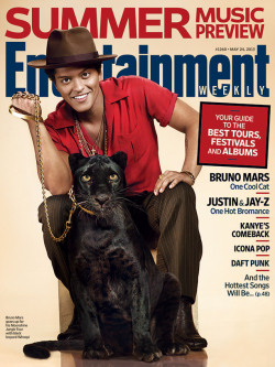 entertainmentweekly:  This week in EW: Our summer music preview, featuring Bruno Mars and a pretty cool cat.