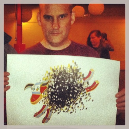 ian mackaye with jason mazollas drawing…. so awesome im proud of you buddy  u better have saved me one!