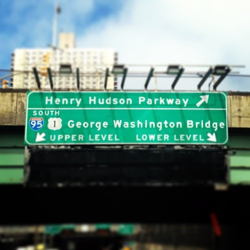 I choose Upper. Always take the high road. #nyc #gwb #notthatgwb (at George Washington Bridge)