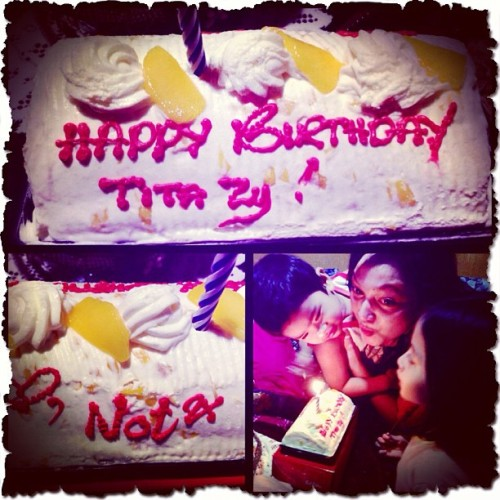 Awwww… 😂Thank you so much for my advance birthday cake Baby Not. Tati Zy loves you too, so so much! 😍😘👼 #BabyLove #SweetNephew #HappyTummy #FamilyLove (at Veranda de Daoang)