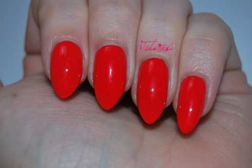 SWATCH: OPI 'My Paprika Is Hotter Than Yours' Another polish from OPI's Euro Centrale collection. This is a bright, orangey-red creme with a light shimmer that I didn't notice in the bottle. This is two coats with Seche Vite. Lex :)