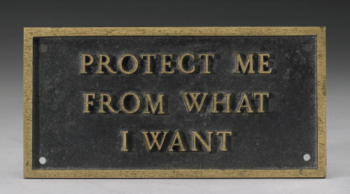 Jenny Holzer, Untitled from the Survival Series, 1986