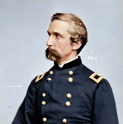 Posting this colorized photo of Joshua Lawrence Chamberlain here again because it's brilliant.Credit goes to Zuhazin - follow his tumblr now gogogogo!
