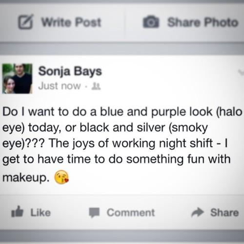 Now that's the question. 😉 #makeup #fotd #mua #decisions