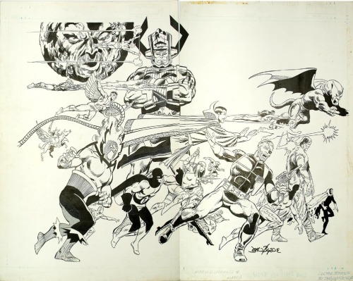 johnbyrnedraws:  Official Handbook of the Marvel Universe #4 cover by John Byrne & Joe Rubinstein. 1986.