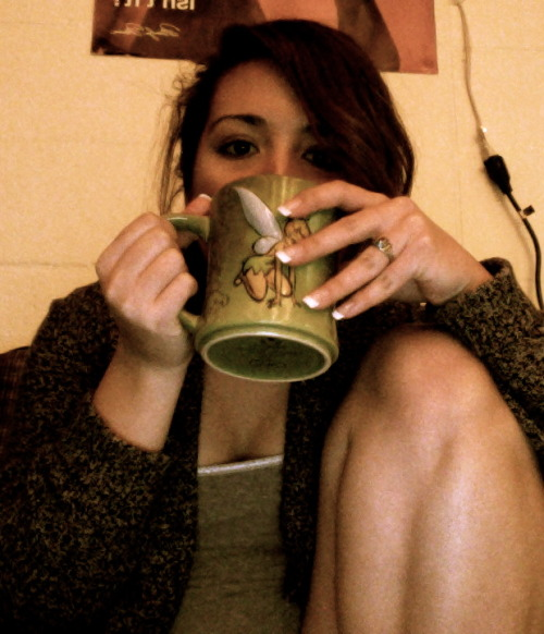 Coffee makes everything and anything better along with my comfy sweater. <3