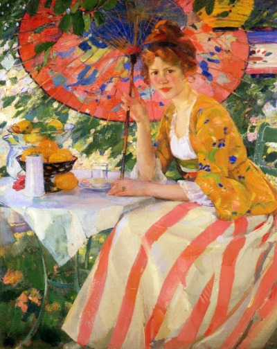 fleurdulys:  Young Lady with Parasol - Karl Albert Buehr 1910