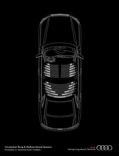 helloyoucreatives:  Bang & Olufsen turns your Audi into an amphitheatre. (via adblogger-at:)