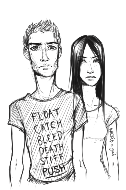 Quick sketch of Thomas and Teresa. Because Maze Runner was kind of awesome. Expect more fanart.