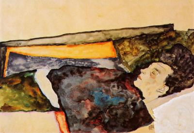 Egon Schiele (1890-1918): The Artist's Mother, Sleeping (1911)