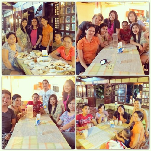 "#latergram from my PI vacay. Dinner with my ""Peñalver"" relatives. 😊❤🍴🍝🍛 #family #travel #philippines #tanayrizal #itsmorefuninthephilippines #dinner"