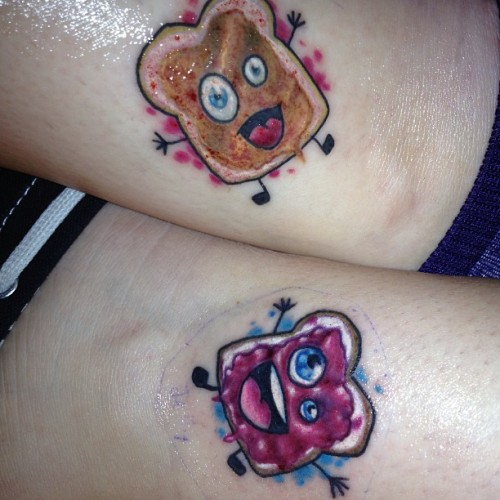 Peanut Butter and Jelly! by Doug Anderson, Jersey Tattoo Co, toms river, NJ… facebook.com/dougtattoosbabies