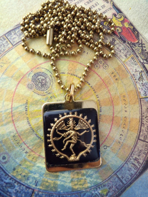 Lord Shiva Pendant https://www.etsy.com/listing/123566182/black-and-gold-shiva-vintage-glass-tile
