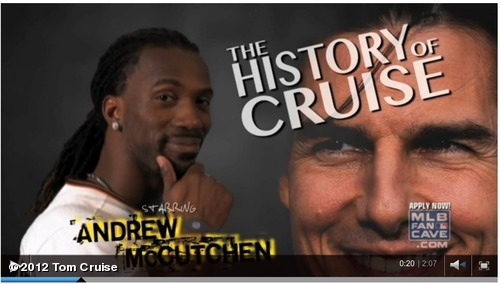 Pittsburgh Pirate Center Fielder Andrew McCutchen performs hilarious Tom Cruise revue for MLB Fan Cave http://atmlb.com/W0NlaL View more Tom Cruise on WhoSay