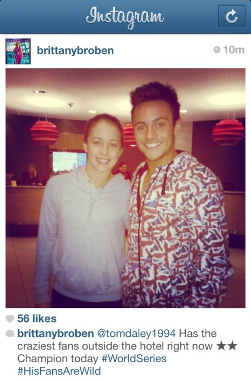 Australian Silver medalist Brittany Broben and Tom Daley