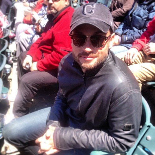 clevelandindians:  Actor Tom Welling flying under the radar at today's doubleheader, like Clark Kent #TribeTown