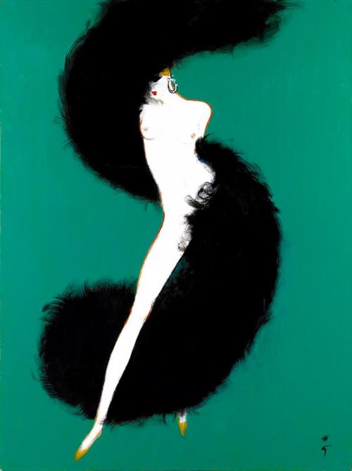 One of my favourite fashion illustrators - Rene Gruau. theblackcatzon:  lacontessa: René Gruau. circa 1980