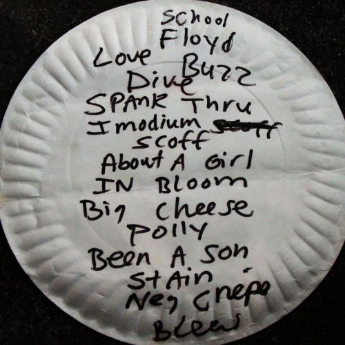youremyvitamins:  Nirvana's setlist from April 29, 1990 at the 9:30 club in D.C.