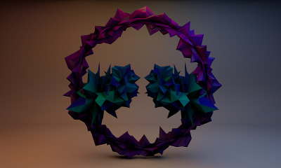 Day, 1: Low poly abstract art made in Cinema 4D. -Caleb Gonzales (MyLifeAsWindslow.Tumblr.Com)