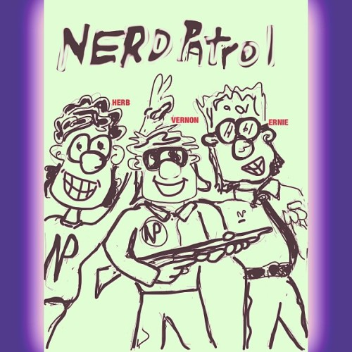When I was in 7th grade I created a #comicstrip called #NerdPatrol for the school newspaper… A lil ahead of it's time? Since nerds and #geekiness are all the rage now. Maybe? Lol… Based off myself and my 2 cousins (they aren't really #nerds I #geeked them up). Names changed to protect the innocent. So I #sketched these guys again on my #iPad. They were a bit cliché. Might have to do something more with them. #nerd #geek #drawing #silliness #dreams #lol #comics #iwannaaddmoretagsbutatalosstothinkofanythingelse :)