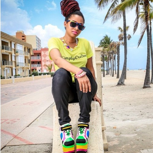 Spotted @simplycre8eve rocking #Chief #Aztecs by #TextilesandAlchemy #eyewear #photographed by #King @joewesley in #Miami