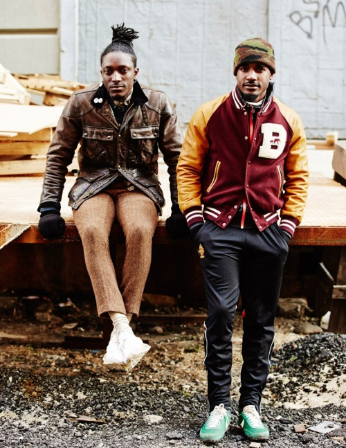 "streetetiquette:  On set // Nike ""Be Bold. Be True. - myself and Trav  Location : Brooklyn, NY Photo by Nick Oken"