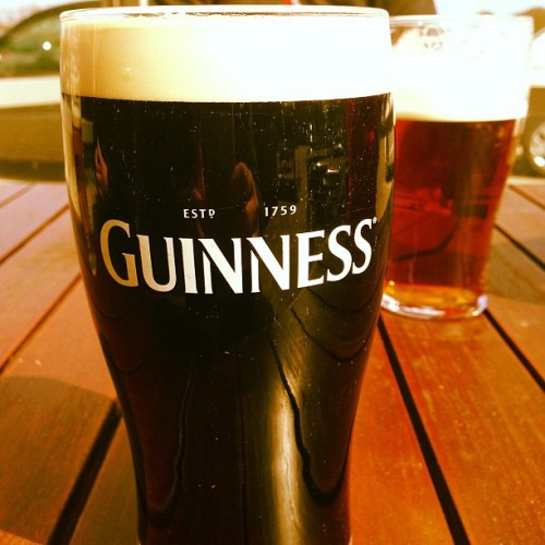 Celebrating St. George's Day with a lovely pint of #Guinness