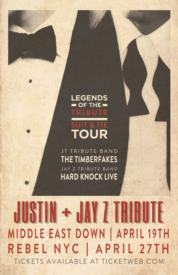 timberfakes:  BOSTON! NYC! GET READY FOR SOME JT + JAY Z HITS! April 19th - Cambridge, MA - Middle East Down April 27th - New York City - Rebel NYC  Big things happening next month!