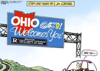 Ohio, the @!$&-ing heart of it all. Cartoon: Nate Beeler, Columbus Dispatch