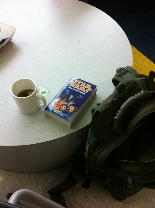 Tea and Star Wars at school.