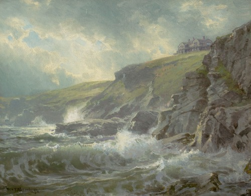 View of the Artist's Home, Graycliff, Newport, Rhode Island - William Trost Richards 1894