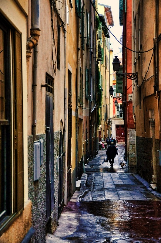 | ♕ |  Narrow alley in Vieux Nice  | by © Martin Pinker