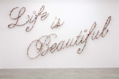 Farhad Moshiri, Life is Beautiful/Knives, (2009).