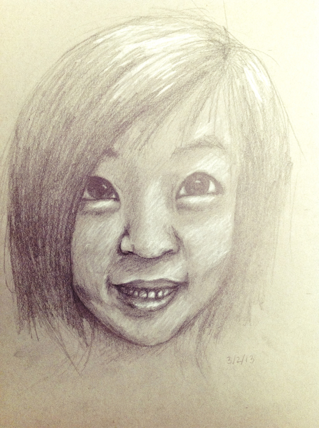 First self-portrait in.. years? My nose is too short :(