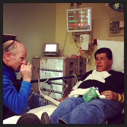 #dads in the #hospital doc explaining the gender reassignment surgery to him………. JK he should be fine with a bad #posterior #nose #bleed