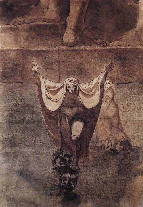 zombienormal:  Dante and Virgil on the Ice of Kocythos, John Henry Fuseli (1741-1825), 1774. (Kunsthaus, Zurich) Via.