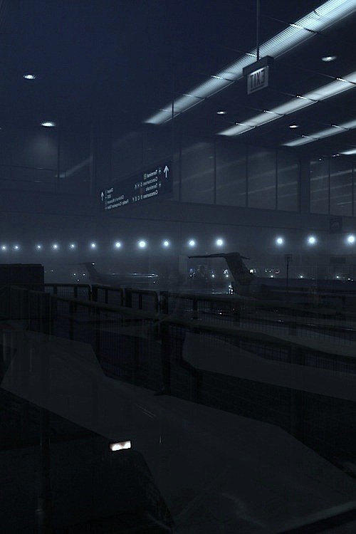 neuromaencer:   crownedmoon:  Airport fog