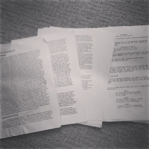 The first draft #jimmysend script. #alanmoore #mitchjenkins crumpled and neglected oops.