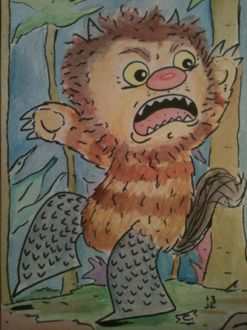 Where the Wild Things are 5x7 watercolor
