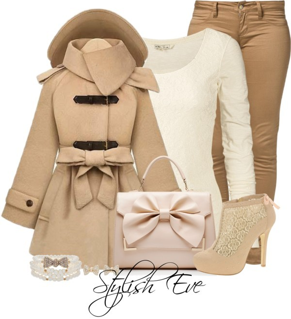 aml por stylisheve usando Forever New ❤ liked on PolyvoreFat Face long sleeve shirt, $48 / Hooded coat / Monkee Genes slim fit jeans, $77 / ASOS studded platform boots / Forever New handbag, $47 / Talullah Tu pearl jewelry, $26 / Gold jewelry, $7.97