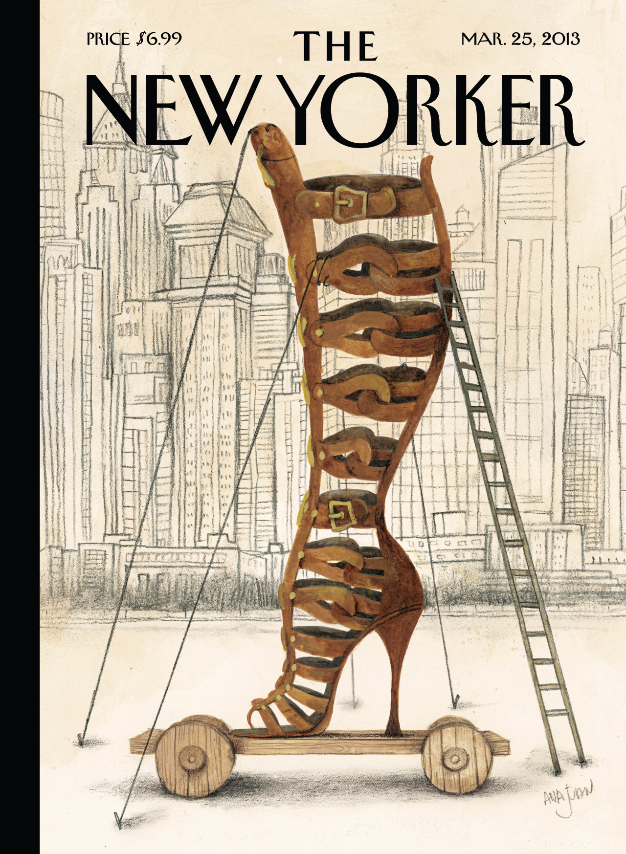 "bergdorfgoodman:  Let's hear it for Altuzarra.  newyorker:    ""I'm inspired by all of it, but I love shoes,"" she continues with a laugh. ""I'd like to have thousands of millions of shoes. I love high heels even if I can only wear kitten heels. I love that object—they're pieces of art sometimes. It can change your mood, and your way of moving—it's fantastic.   Cover of the March 25, 2013 issue. Get the story behind this week's cover, ""Art and Architecture,"" by Ana Juan, plus a slideshow of the fashion that has inspired the artist: http://nyr.kr/ZEl3qd   NEW YORKER"