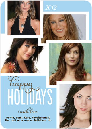 portiabellefleur:  Happy Holidays from the staff of Lancaster Bellefleur Llc. - Portia, Sami, Kate, Phoebe and D