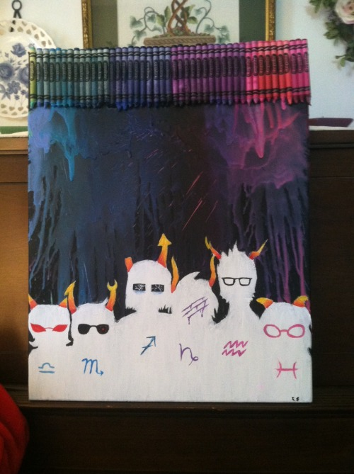 kirakira-oppai:  finished homestuck crayon art