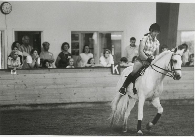 1970- riding at the campus Riding Center