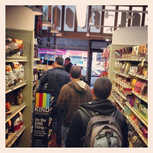 In line @realfoods Russian Hill - chippies tempting me from both sides #SF #sanfrancisco  (at Real Food Company)